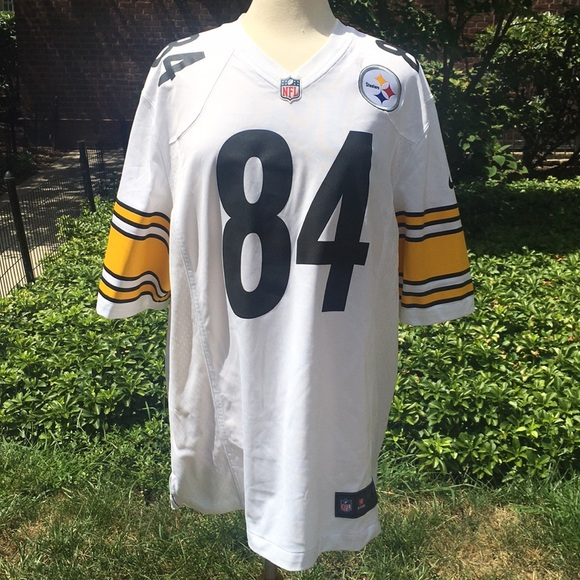 new style d5962 1a33c Steelers Antonio Brown White On The Field Jersey